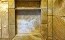 Bathroom Remodel Travertine Tub - Leander, TX