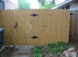 Wooden Fence & Gate - Leander, TX