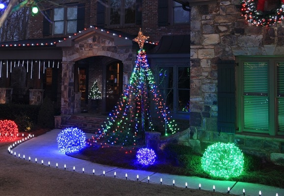 Outdoor Christmas Lights Installation Service