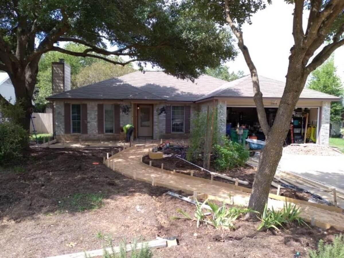 Concrete Patio Walkway Cedar Park TX